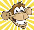 Here is a small image of a monkey